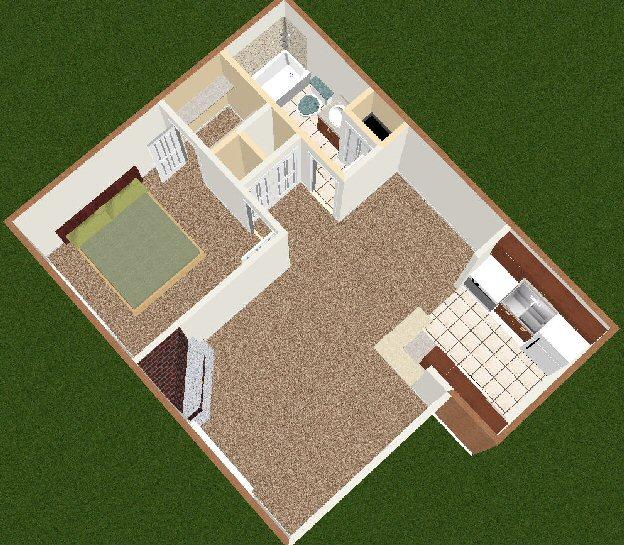 Sugar Creek Apartments: Sugar Creek One Bedroom With Fireplace