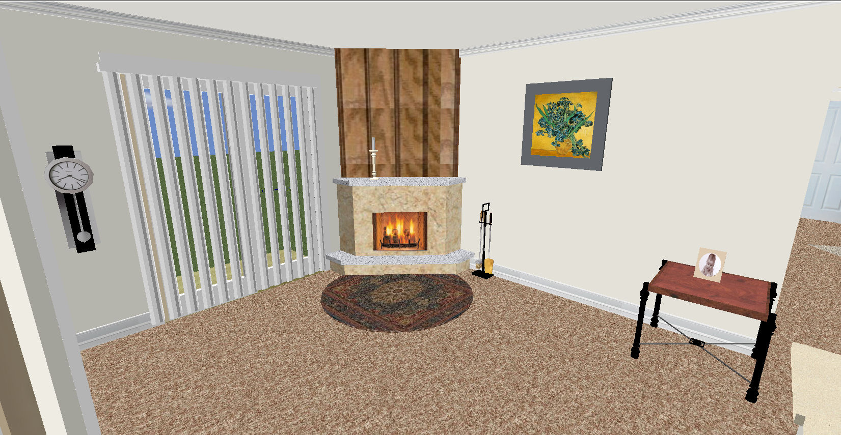 The Floor Plan And Overview Below Are Of The Same Two Bedroom Only Without  The Fireplace.